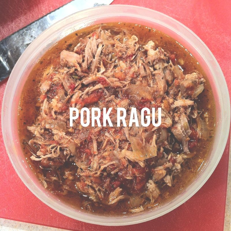 braised pork ragu photo