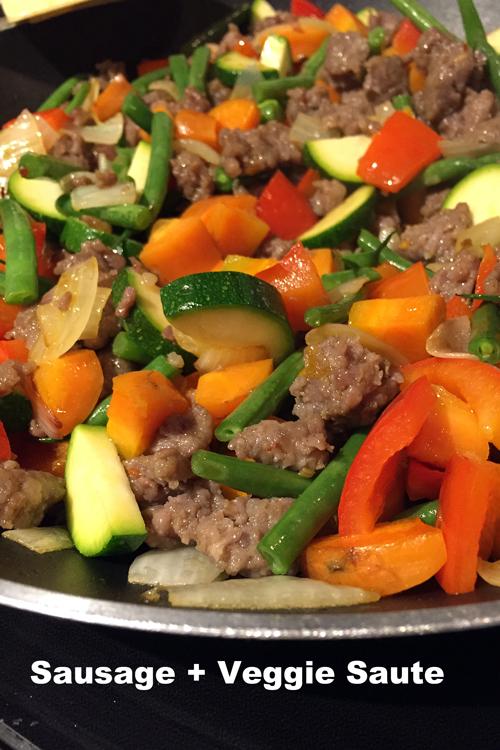 Sausage-and-veggie-saute